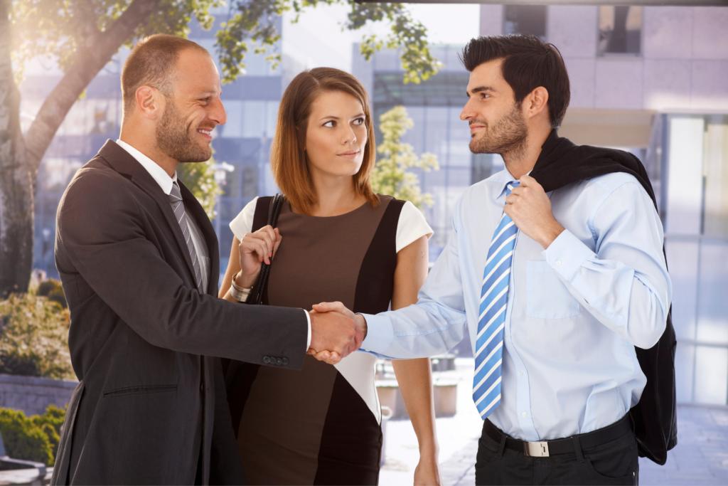 chef d'entreprise et associés dans une SASU avec un expert-comptable pour SASU